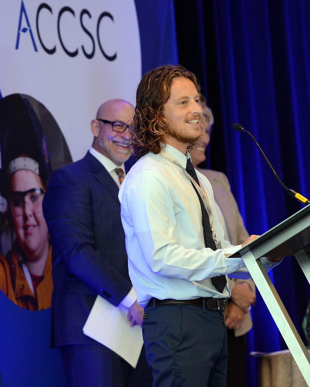 Chandler Dixon ACCSC Award Winner