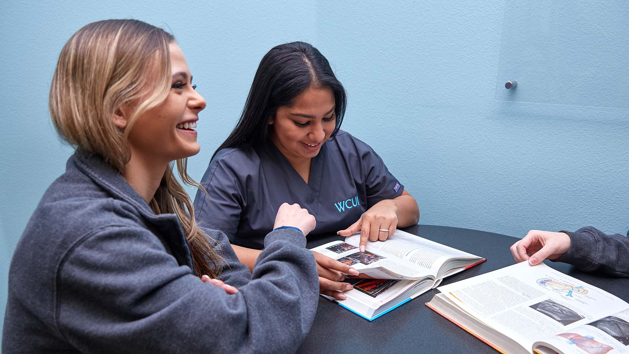 WCUI Nursing Students Studying Course Material Together